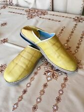 Moroccan Slippers - Handmade Authentic Leather Men's Shoes. Indoor Outdoor shoes