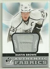 2012 12-13 SP GAME USED AUTHENTIC FABRICS JERSEY KINGS DUSTIN BROWN #AF-DU