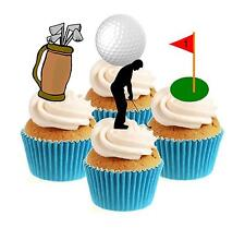 Novedad Golf / Golf Colección 12 Comestibles Stand Up Oblea papel Cake Toppers