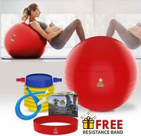 Exercise Ball, Fitness Workout & Chair Pregnancy Ball Anti-Burst Yoga Pilates La