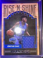 2017-18 Hoops Rise N Shine Patch #6 Jonathan Isaac Rookie Jersey. Orlando Magic