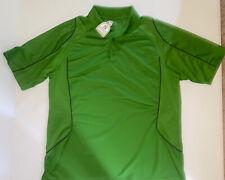 Men's Stirrups Clothing Polo Golf Shirt Size XL Green Polyester NWT
