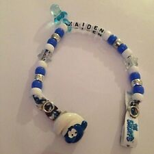 Personalised Dummy Clips - Smurfs- Handmade