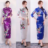 Charming Chinese Women's Dress Long Cheongsam Bridesmaid Evening Dress Qipao