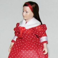 Dollhouse Dressed Teen Young Woman Doll Erna Meyer Porcelain Head Red Miniature