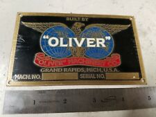 Blank Oliver Machinery Co. Brass Tag, Old Style (13-1)
