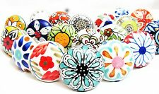 8 PACK SET Vintage Shabby Chic Ceramic Knobs Drawer Cupboard Pull Knob Handle