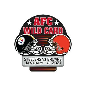 2021 CLEVELAND BROWNS PITTSBURGH STEELERS WILD CARD GAME PIN IN STOCK