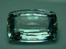 9.58ct rare unheated Blue Aquamarine gem Natural Brazil UNTREATED cushion