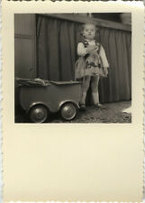 PHOTO ANCIENNE - VINTAGE SNAPSHOT - ENFANT JOUET LANDAU - CHILD BABY CARRIAGE
