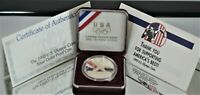 1992-S Olympic Silver Proof Dollar with CoA & Clam Shell (NO BOX)  A-1594