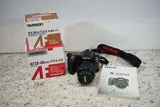 Pentax K100D 6.1MP Digital SLR w/ 3 Lens Tamron AF28-200mm AF28-80mm