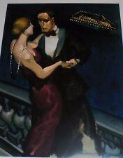 Gala Night by Juarez Machado, 9x12, dancing couple, lighted cruise ship
