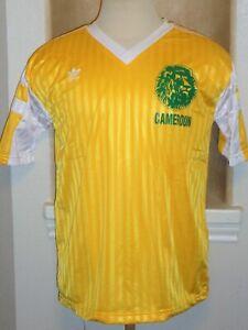 VTG ADIDAS CAMEROON CAMEROUN LIONS MILLA SOCCER JERSEY FOOTBALL SHIRT WORLD CUP