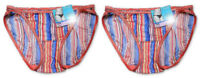Vanity Fair Illumination String Bikini Panties 18108,Ocean Sunset,2 Pair 5,6,7,8