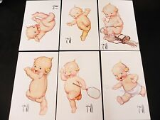 Kewpie Doll Postcard Lot of 6 Rose O'Neill Unused Marshall Mo 1976 Golf Tennis
