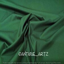Dark Green Solid Plain Pure Cotton Voile Loose Fabric Craft Color Sewing 3 Yard