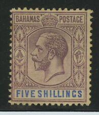 BAHAMAS:  Scott #55 Mint No Gum 5 Shillings