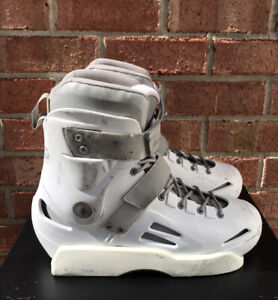 Rollerblade Solo Trooper white boot only size 11 US aggressive skates