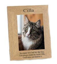 CAT Memorial Photo frame Portrait fits  6 x 4 engraved  Personalised Keepsake