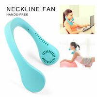 USB Portable Hanging Neck Fan 2 In 1 Air Cooler Mini Electric Air A8V0