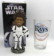 Chris Archer Tampa Rays STORMTROOPER BobbleHead & Miller Lite Rays Pint Glass