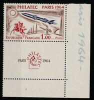 FRANCOBOLLI - 1964 FRANCIA PHILATEC FR.1 ANGOLI DI FOGLIO MNH E/1807