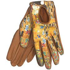 Cire by Grandoe Prelude Sheepskin Gloves Gustav Klimt The Kiss Medium Women's