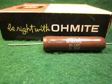 (1) OHMITE 75 OHM 20 WATT BROWN DEVIL CERAMIC WIREWOUND RESISTOR NOS