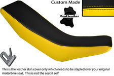 YELLOW & BLACK CUSTOM FITS HONDA CRM 250 R 89-92 DUAL LEATHER SEAT COVER