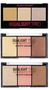 CITY COLOR Trio - Blush - Bronzer - Highlighters-  - 3 Types Available