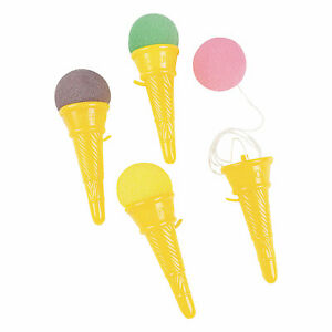 12 Ice Cream Cone Shooter Circus Carnival Prize birthday toys Party Favors