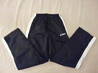 Mens asics Pants S Small Navy Blue Athletic Gym Workout