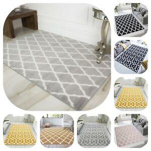Most Popular Trellis Rugs for Living Room Modern Rug Simple Pattern Stylish UK