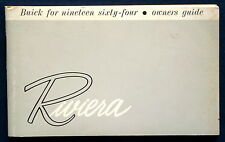 Owner's Manual * Betriebsanleitung 1964 Buick Riviera (USA)