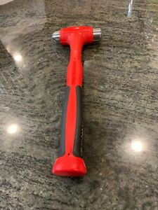 NEW Snap-on HBBD16 16oz Dead Blow Ball Peen Hammer Cushion Soft Grip Red