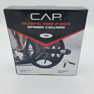 CAP Olympic Size 2 Inch Spring Collars 1 Pair NEW