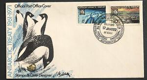 Australia Antarctic Territory FDC 1972 Antarctic Treaty