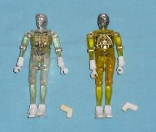 vintage Mego Micronauts YELLOW & CLEAR TIME TRAVELER LOT x2 complete
