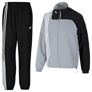Adidas Herren Trainingsanzug Sereno 11 Präsentationsanzug , Silber  , M , Neu