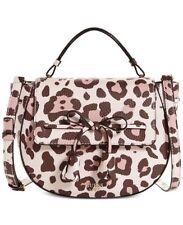 GUESS Leila ANIMAL PRINT Satchel Shoulder Bag Crossbody~PINK~Super Cute!!!~NWT