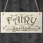 Fairy Garden Wooden Hanging Plaque Shabby Chic Fairies Pixies Fairy Sign Gift