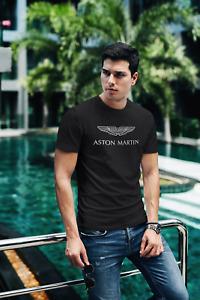 Aston Martin Car Logo Men's Black T-Shirt Size S-3XL FREESHIPPING