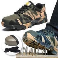 Men's Indestructible BulletProof Ultra Light Shoes Steel Toe Safety work Boots