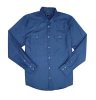 INC Mens Shirt Blue Size Small S Dual Pocket Long Sleeve Button Up $49 #084