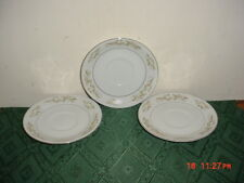 "3-INT'L SILVER COMPANY ""SPRINGTIME"" 5 3/4"" SAUCERS/#326/WHT-YEL-SILVER/SALE!"