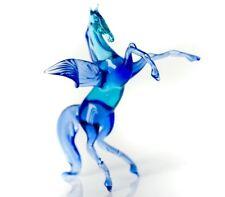 "hand blown glass hang ""murano"" art pegas figurine"