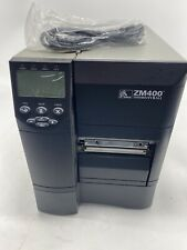 Zebra ZM400 Thermal Label Barcode Printer With Power Cord