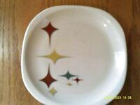 "Syracuse China Atomic Star Jubilee Mid-Century Restaurant Ware 8"" Plate"