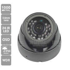 1000TVL CCTV Outdoor Dome Camera 3.6mm Wide View WDR Smart IR 65' Day Night